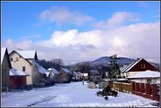 Sněhová nadílka vbřeznu